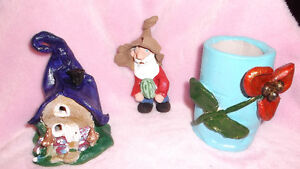Handmade Clay Fairy House and Gnome London Ontario image 3