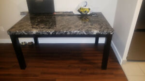 10/10 condition Faux marble dining table