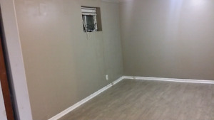 Basement unit with 1 bed + den and 1 Full Bath for rent