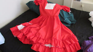 Square Dancing Dress Red and White size small