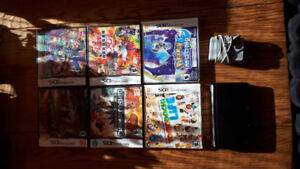 Nintendo 3DS Original + 2 3DS games and 4 DS games