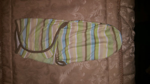 Baby swaddlers, Nursing pillow, Bibs and Bjorn baby carrier