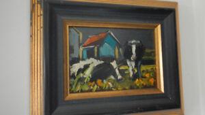 Plusieurs tableaux d'artistes peintres Québécois