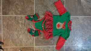 Variety of baby girl christmas outfits