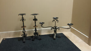 METAL CANDLE HOLDERS HAND MADE