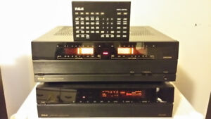 RCA DIMENSIA Power Amp & Pre Amp Built by Hitachi