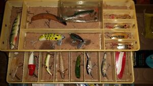 vintage tackle box full of old lures