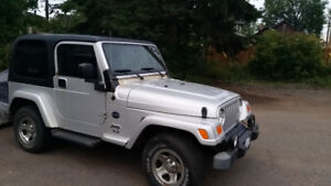 2003 Jeep TJ Black Convertible