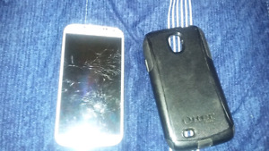 Galaxy s4 with broken screen locked to fido