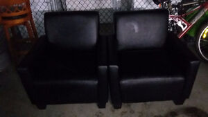 black leather armchairs 125$ each