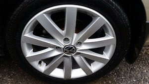 Brand New 225 45 17 Pirelli Cinturato P7 on VW Jetta Golf alloys