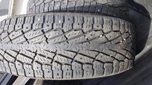 Nokian hakapaletta LT2 275 60r20 set of 4 studded winter tires