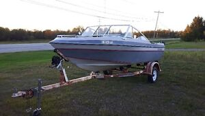 87 16.4' seahawk with 115hp johnson