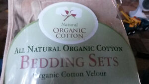 *Reduced* Washed (Once), Unused Light Brown 3 pc Cradle Bedding