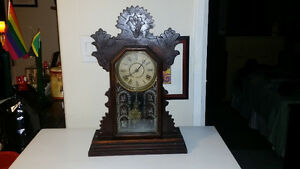 Antique working Gingerbread Clock with Key London Ontario image 1
