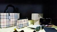 BURBERRY BAG PURSE SUNGLASSES 100% AUTHENTIC