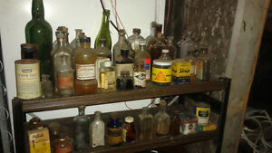 LOTS OF ANTIQUE BOTTLES