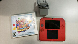 Nintendo 2DS with game and charger - Red color