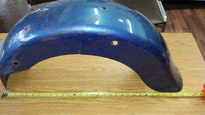 Fenders ailes blue flh harley davidson rear 180 mm