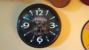 STURGIS LIGHTED WALLCLOCK~OPEN TO ANY REASONABLE OFFERS BECAUSE
