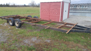 26 FT Trailer Frame with new trailer tires