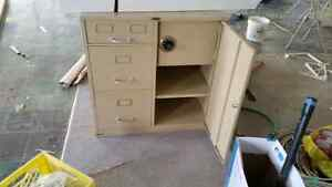 small safe with combination lock and metal cabinet