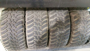 4x AMP M/T 35x12.50R20 Tires, 11/32nds of tread