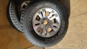 Set of 4 rims and tires from Ford Ranger