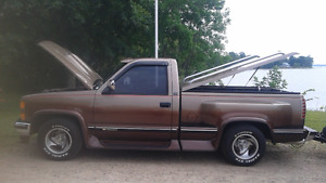 1994 Chevy silverado short box/ stepside sport &,trailer