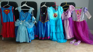 12 different boys & girls halloween/play costumes + accessories