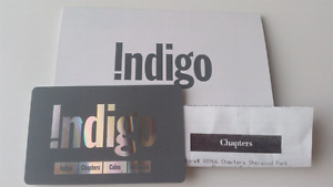 Indigo chapters Coles $60 gift card with receipt