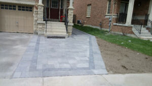 professional landscapers and interlocking