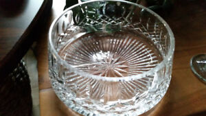 Vintage Crystal Vase / Bowl Beautiful Details and Clarity