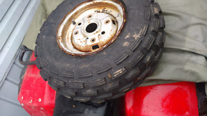 2 kenda 10 inch front tires off 85 250 fourtrax