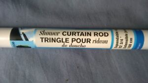 NEW white 'adjustable' shower curtain rod