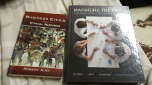 Lakehead business textbooks for third year or MBA level