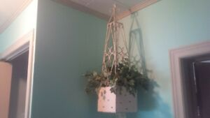 Plant Hanger with Faux Ivy Plant