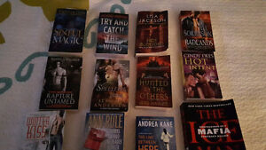 Books. Mystery, paranormal romance, true crime