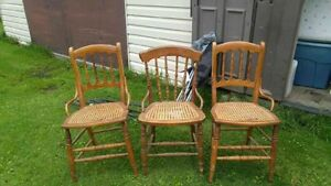 3 antique chairs