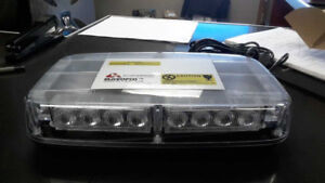 "LED Light Bar - 11"" - Clear Lens - Amber LED - Super Price"