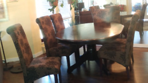 Dining table and the chair