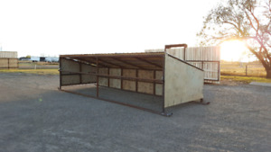Windbreak Corral panels, cow calf shelters, bunk feeders