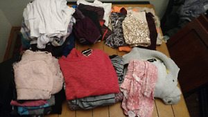 Tons of assorted clothes. Ladies S-M.