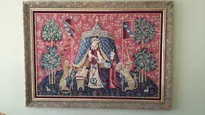 """Beautiful Large Framed Tapestries/Needepoints 52""""x38"""""""