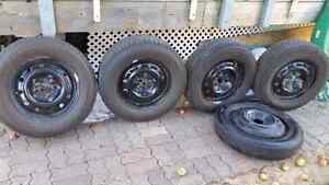 5 Michelin winter tires 90% thread left, almost new winter tires