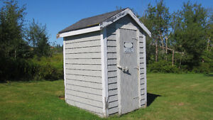 Free two-seater outhouse