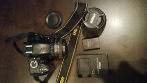 Camera-reflexe-Nikon D3200 avec 2 objectifs+sacoche