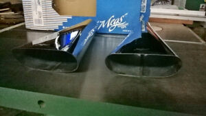Megs stainless oval exhaust tips (pair)