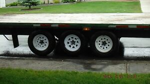 Flat Deck 5th wheel Tri-axle Prince George British Columbia image 6