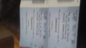 2 tickets to RiverDance .scotia bank center